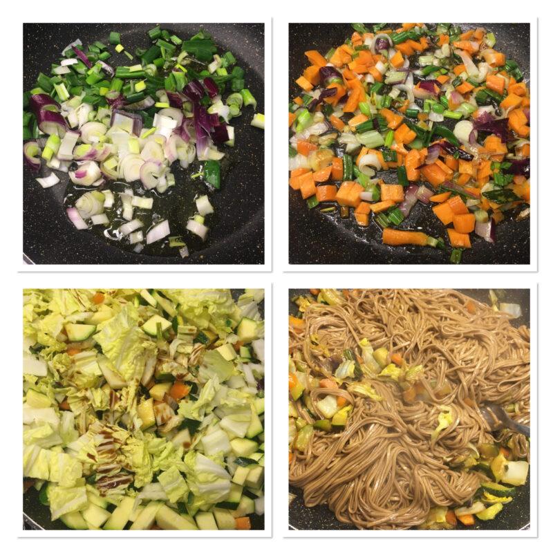 Noodles di grano saraceno e verdure