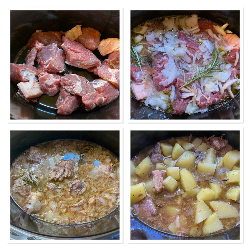 Spezzatino di vitello e patate a lenta cottura con slow cooker