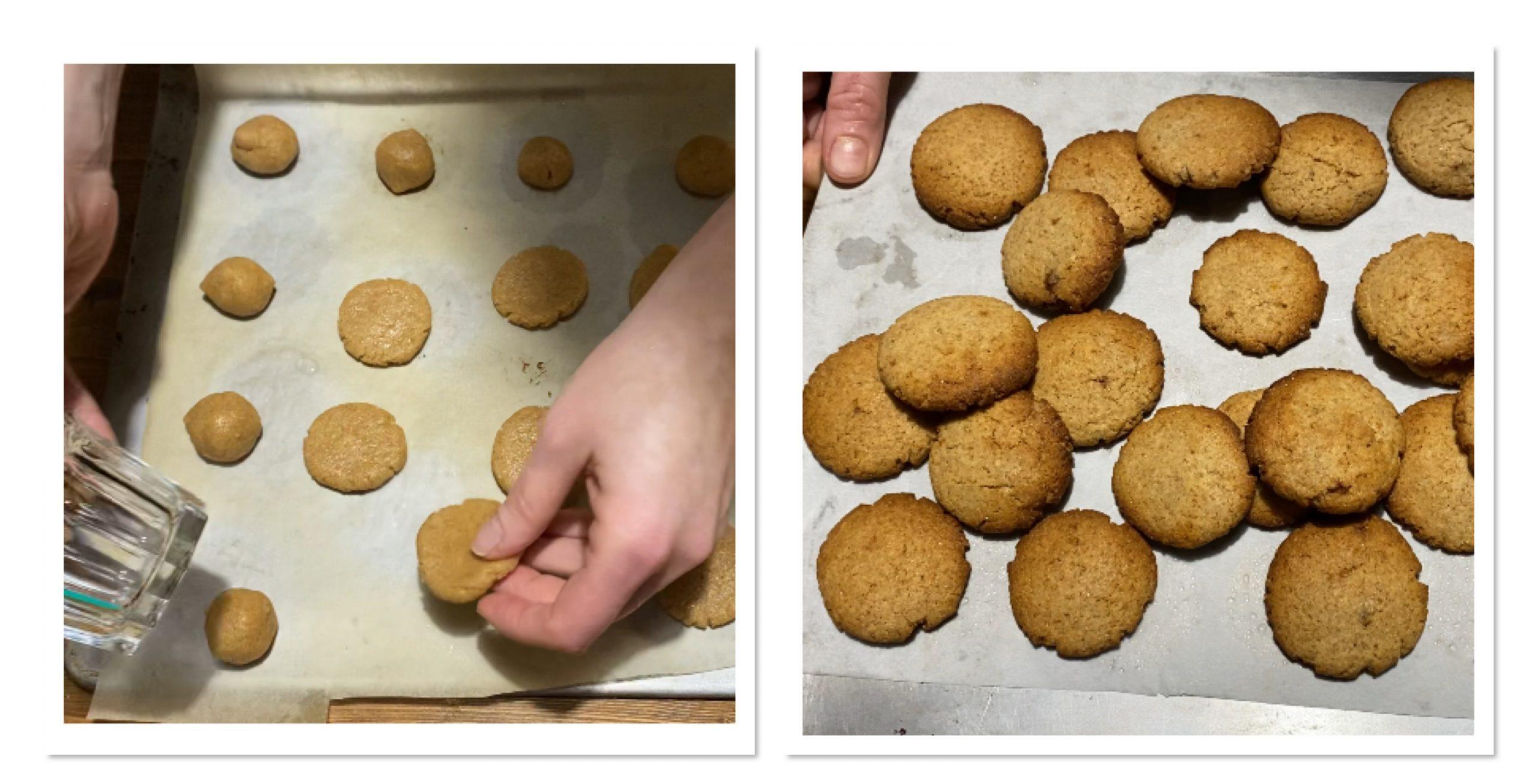 Biscotti con farina integrale e zucchero di canna senza burro