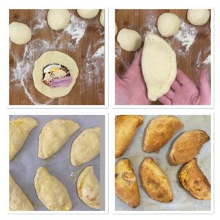 Calzoni al forno alla parmigiana con melanzane
