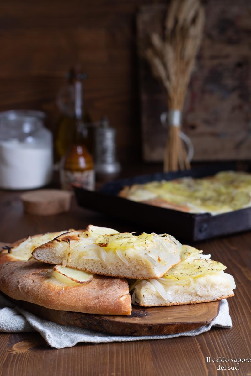 focaccia cipolle e patate