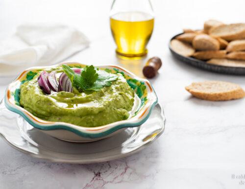 Crema di avocado per crostini carne e pesce