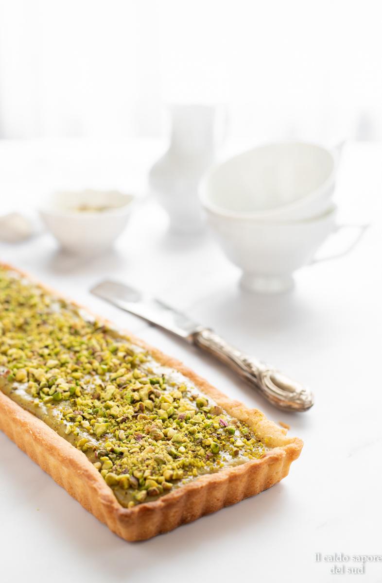 Crostata al pistacchio facile con crema spalmabile