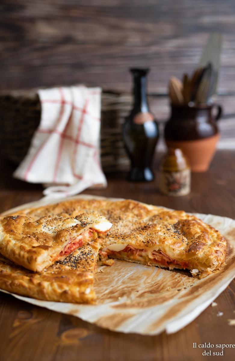 Torta rustica alla parmigiana con melanzane fritte