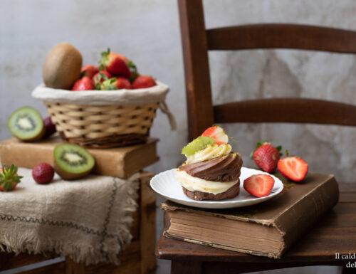 Zeppole al forno con pasta choux al cacao