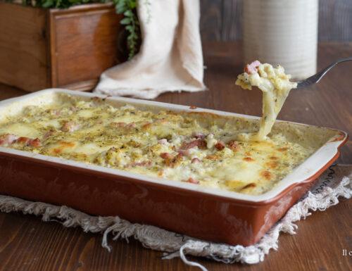 Riso al forno al pistacchio gratinato con pancetta e formaggio