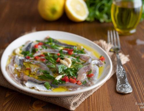 Alici marinate alla siciliana