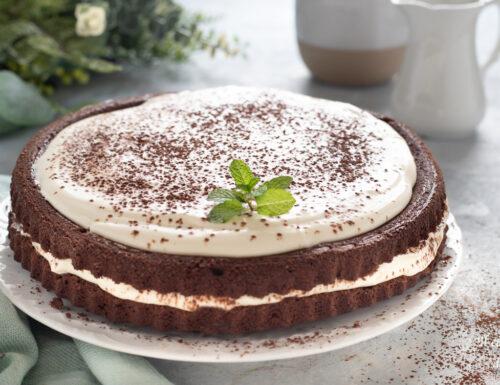 Crostata morbida la cacao con camy cream