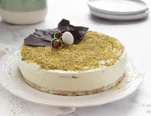 Torta gelato al pistacchio furba senza gelatiera