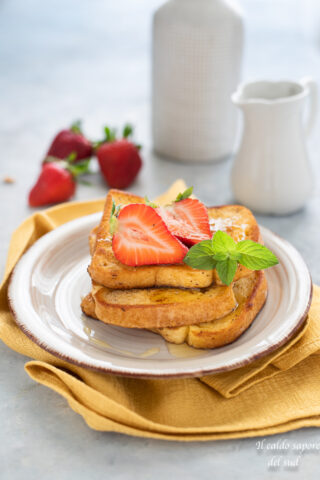 French toast con pane bianco in cassetta