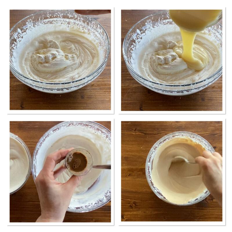 Gelato biscotto variegato alla vaniglia e caffè
