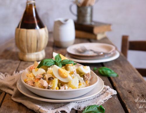 Insalata di patate tonnate con condiriso e uova sode