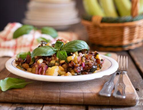Zucchine in agrodolce alla siciliana con uvetta e pinoli