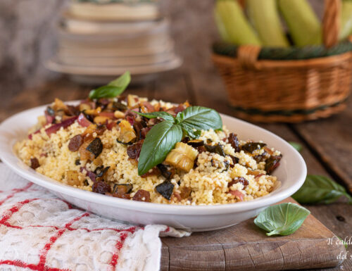 Cous cous con zucchine in agrodolce