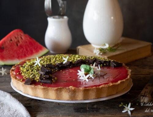 Crostata al gelo d'anguria ricetta originale siciliana