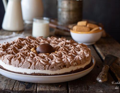 Torta gelato furba bicolore alle nutella