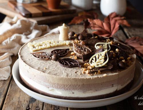 Cheesecake alla vaniglia cacao e caffè