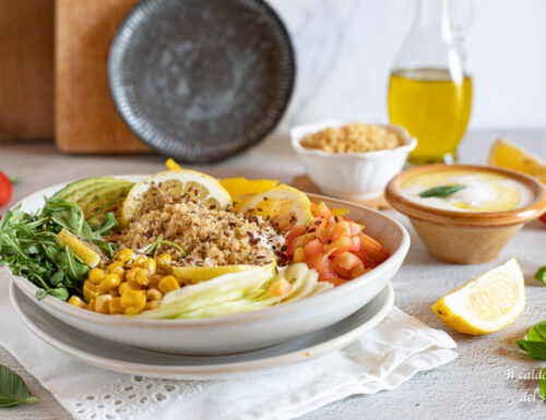 Insalata di cous cous light con verdure e yogurt greco