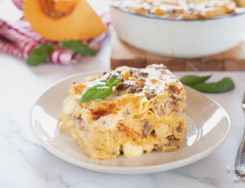 Lasagne zucca ragù bianco e besciamella