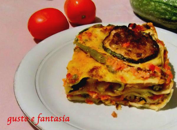 lasagne con pesto pantesco e verdure