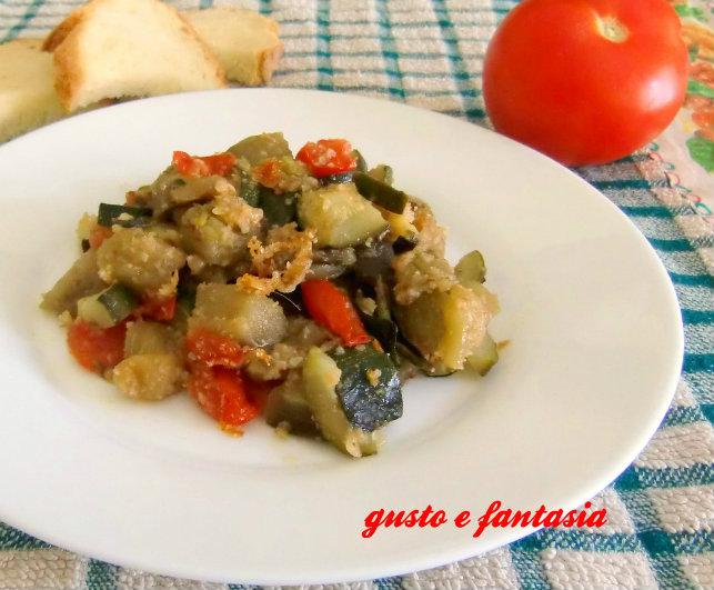 melanzane e zucchine trifolate