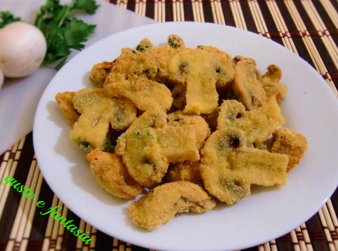 funghi champignon fritti croccanti
