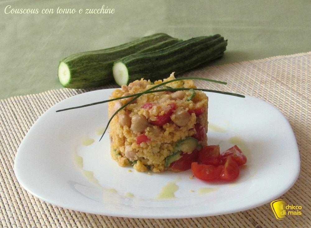 Couscous con tonno e zucchine ricetta veloce il chicco di mais