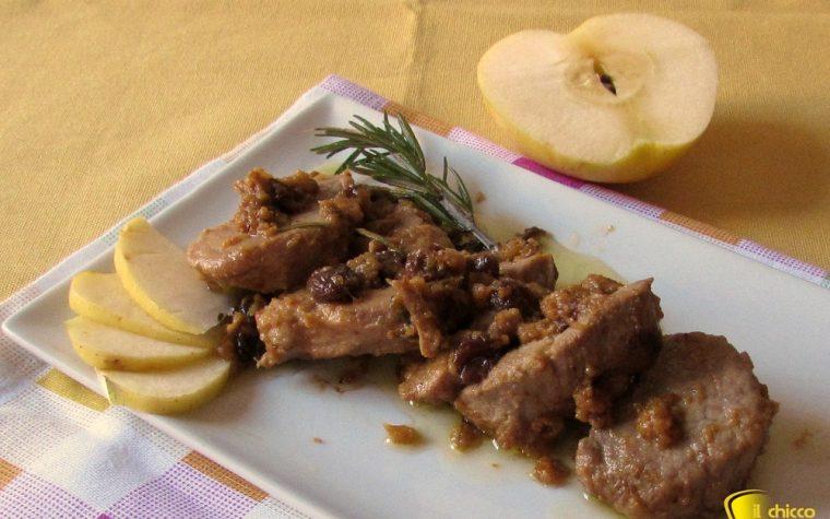 Filetto di maiale alle mele (ricetta agrodolce)