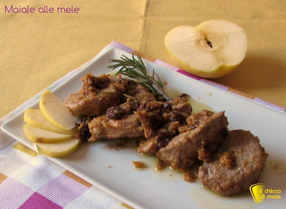 Filetto di maiale alle mele ricetta agrodolce il chicco di mais