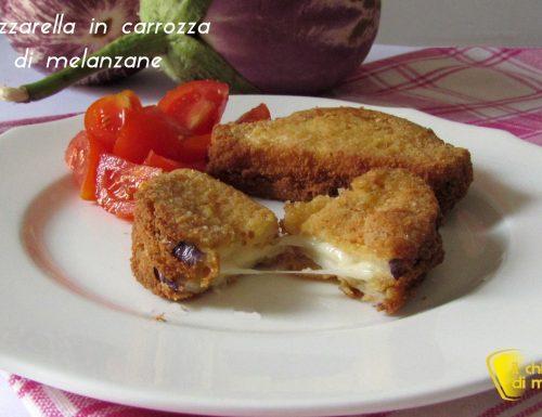 Mozzarella in carrozza di melanzane (ricetta vegetariana)