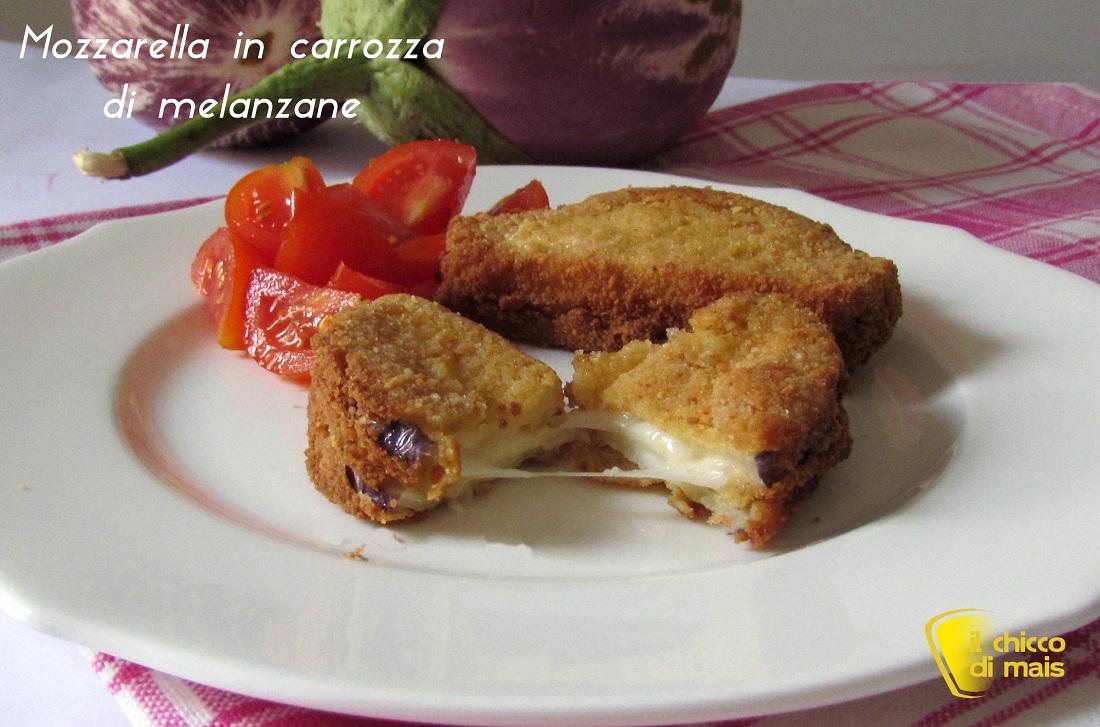 Mozzarella in carrozza di melanzane ricetta vegetariana il chicco di mais