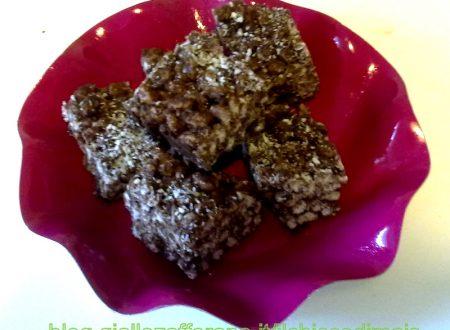 Dolcetti di riso soffiato e cocco (ricetta senza cottura)