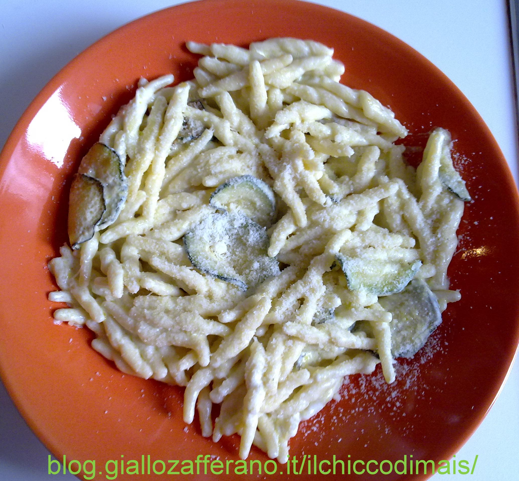 trofie con zucchine e philadelphia ricetta veloce il chicco di mais