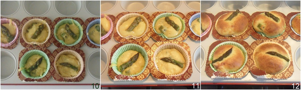 Muffin salati con asparagi e formaggio 4