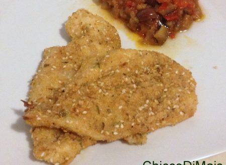 Petto di pollo in crosta di erbe (ricetta light al forno)