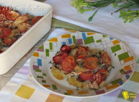 Tortino di alici con pomodoro e patate