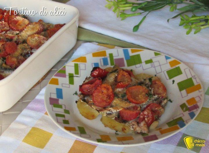 Tortino di alici con pomodori e patate ricetta al forno il chicco di mais