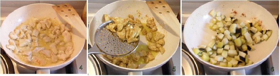 curry di pollo e melanzane con riso pilaf ricetta il chicco di mais 2