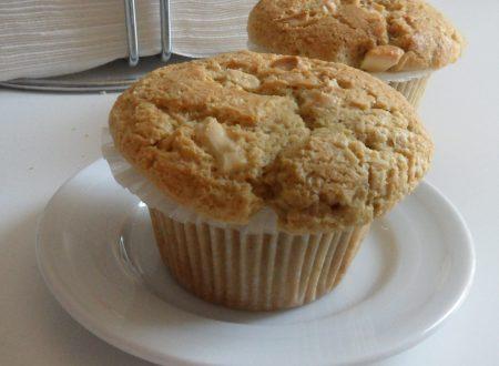 Muffin al cioccolato bianco e caffè (ricetta per la colazione)