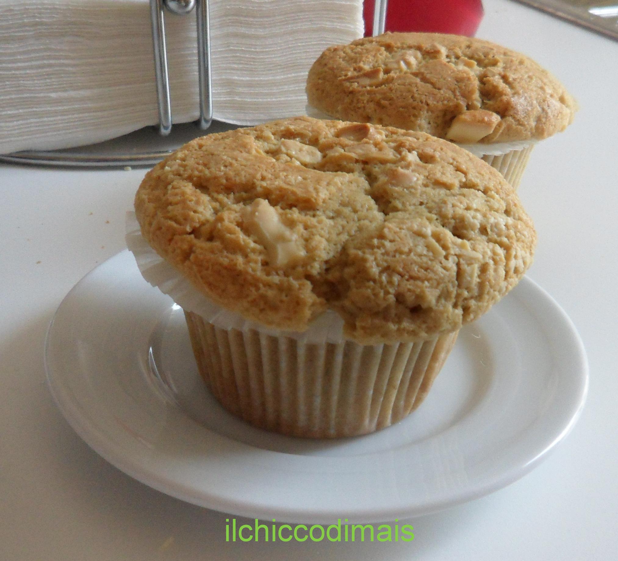 Muffin al cioccolato bianco e caffè ricetta per la colazione il chicco di mais