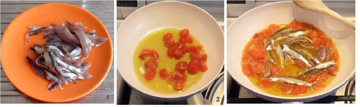 pasta con le alici fresche e pomodorini pinoli pangrattato 1 fare il sugo