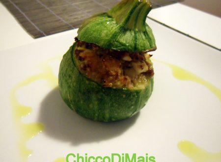 Zucchine tonde ripiene (ricetta al forno)