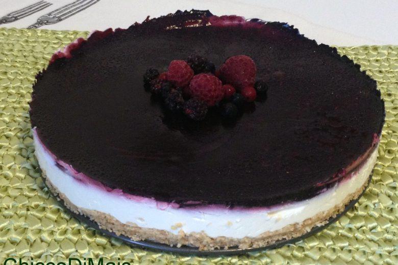 Cheesecake ai frutti di bosco (ricetta light e a freddo)
