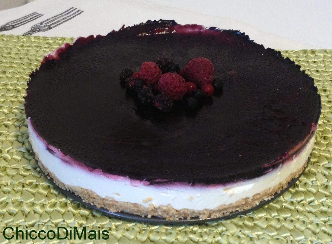 Cheesecake ai frutti di bosco ricetta light e a freddo il chicco di mais