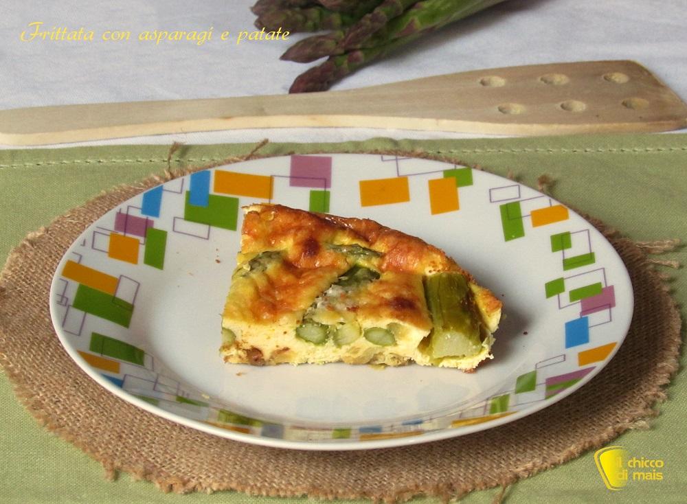 Frittata con asparagi e patate ricetta al forno il chicco di mais