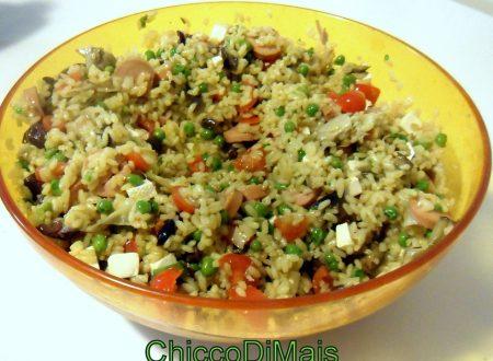 Insalata di riso allo zafferano (ricetta estiva)