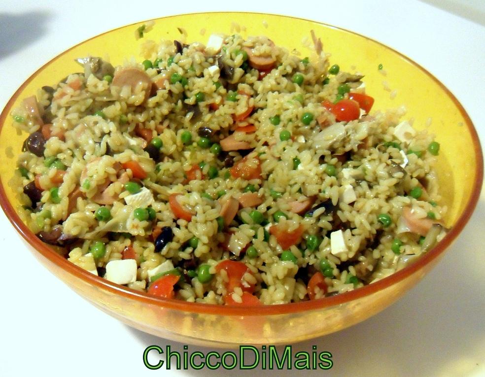 Insalata di riso allo zafferano ricetta estiva il chicco di mais
