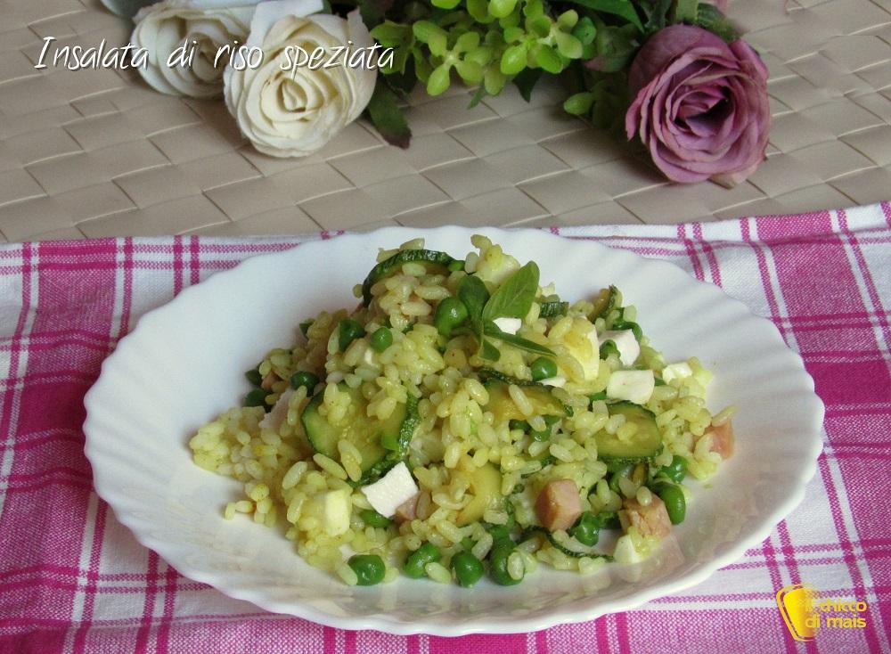 ricette con zucchine Insalata di riso speziata ricetta piatto freddo il chicco di mais