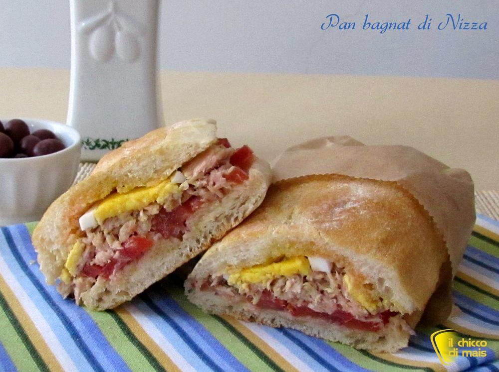 Pan bagnat di Nizza ricetta panino francese il chicco di mais