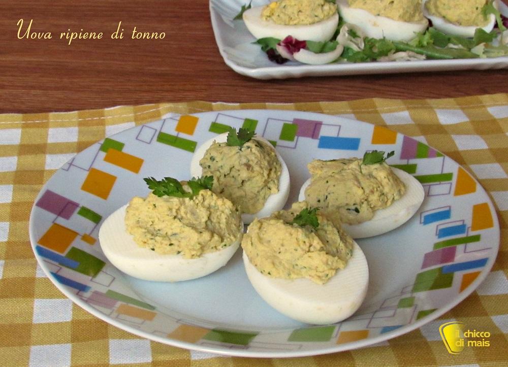 secondi con le uova Uova ripiene di tonno ricetta piatto freddo il chicco di mais